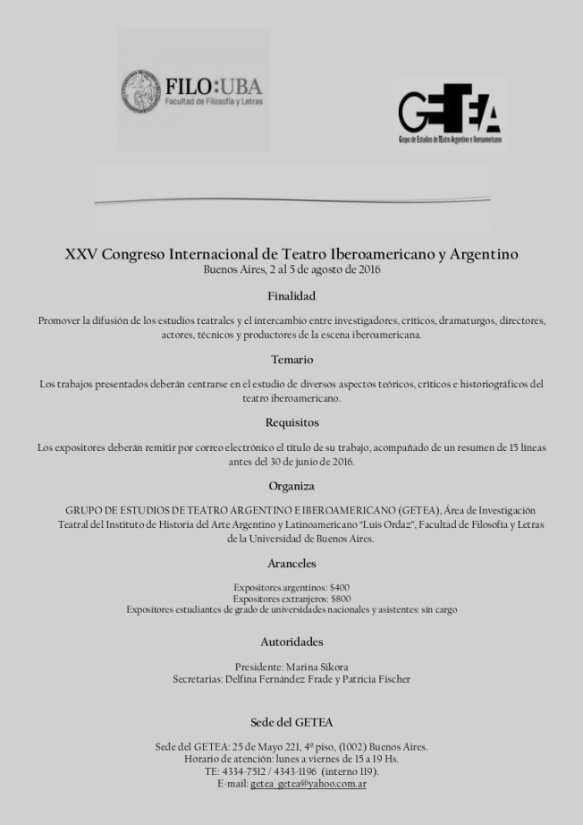 segunda circular XXV Congreso 2016 1