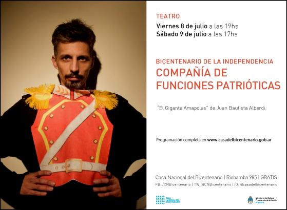 TEATRO - Bicentenario de la Independencia - Compañía de Funciones Patrióticas